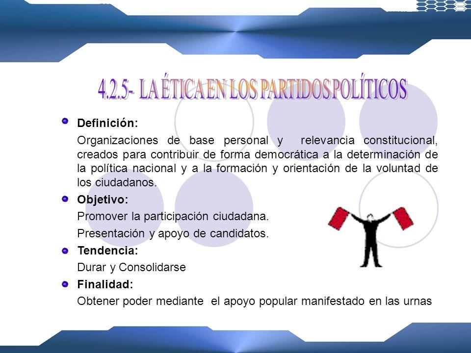 4.2.5- LA ÉTICA EN LOS PARTIDOS POLÍTICOS