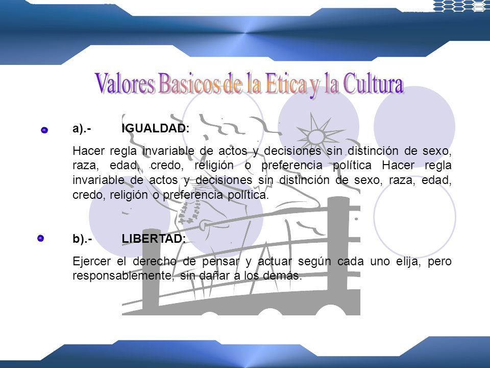 Valores Basicos de la Etica y la Cultura