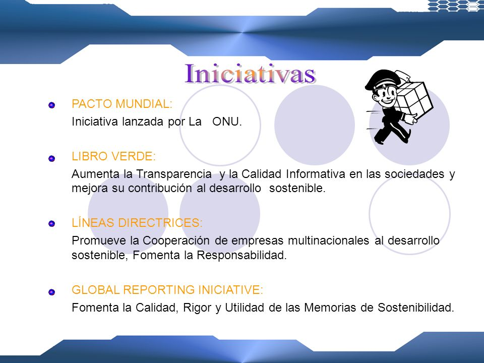 Iniciativas PACTO MUNDIAL: Iniciativa lanzada por La ONU. LIBRO VERDE: