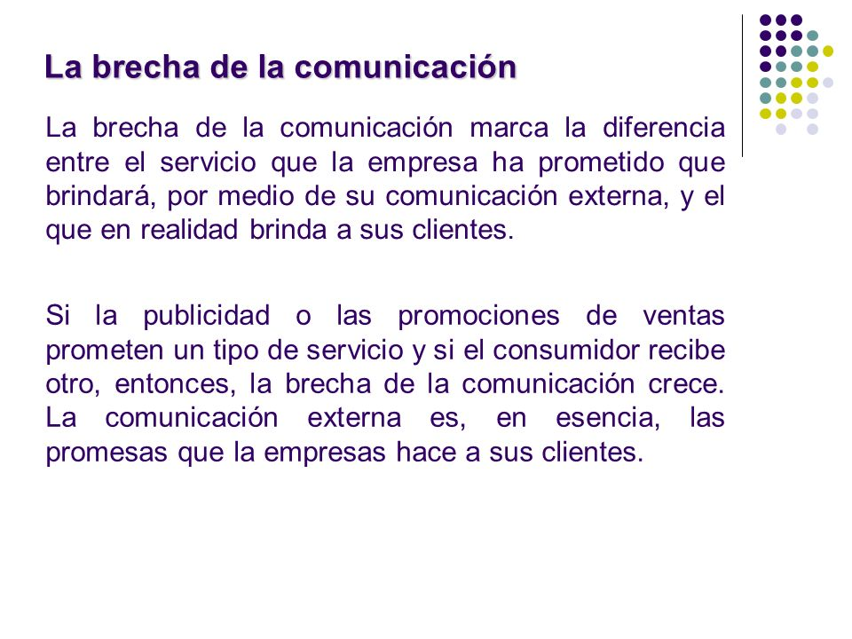La brecha de la comunicación