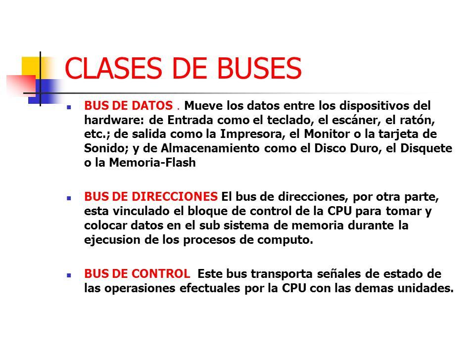 CLASES DE BUSES