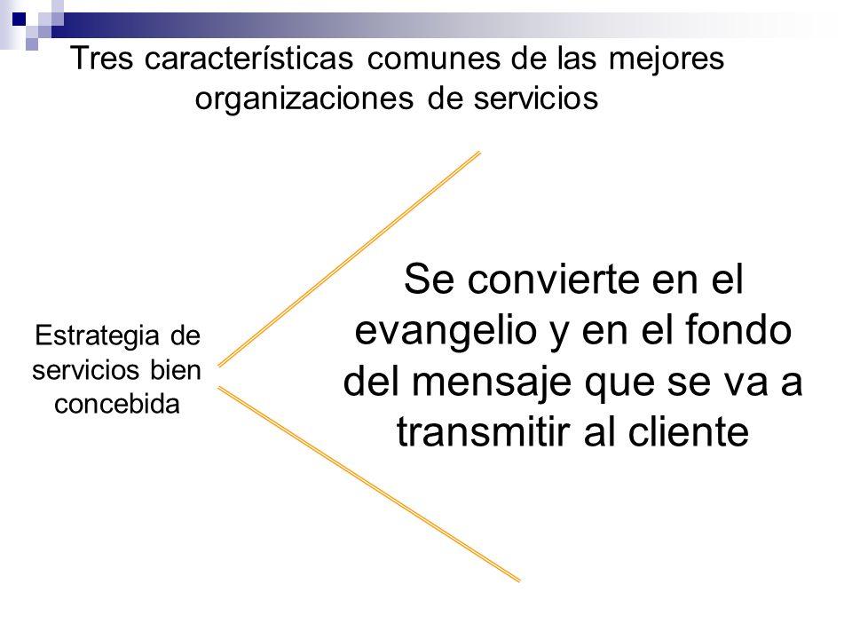 Estrategia de servicios bien concebida