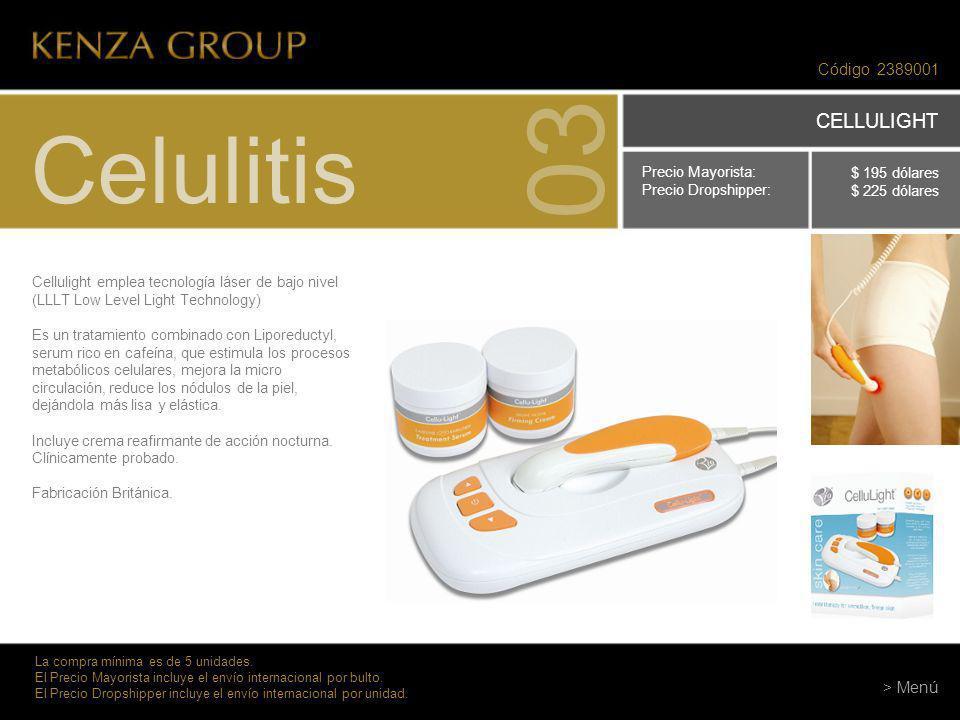 03 Celulitis CELLULIGHT Código 2389001 > Menú Precio Mayorista: