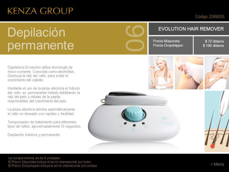06 Depilación permanente EVOLUTION HAIR REMOVER Código