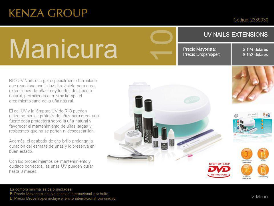 10 Manicura UV NAILS EXTENSIONS Código > Menú
