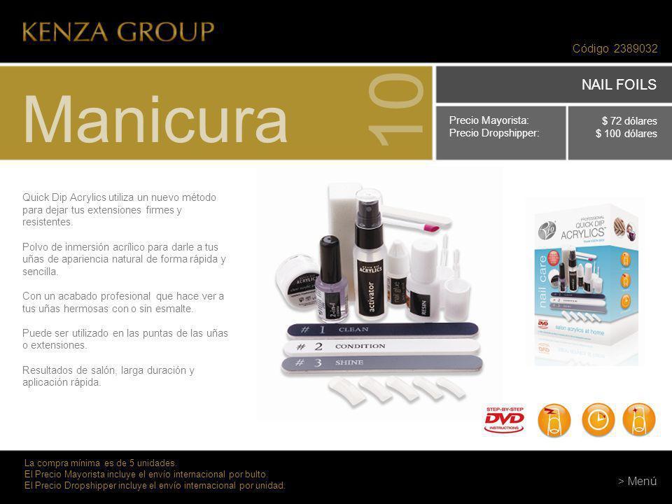 10 Manicura NAIL FOILS Código 2389032 > Menú Precio Mayorista: