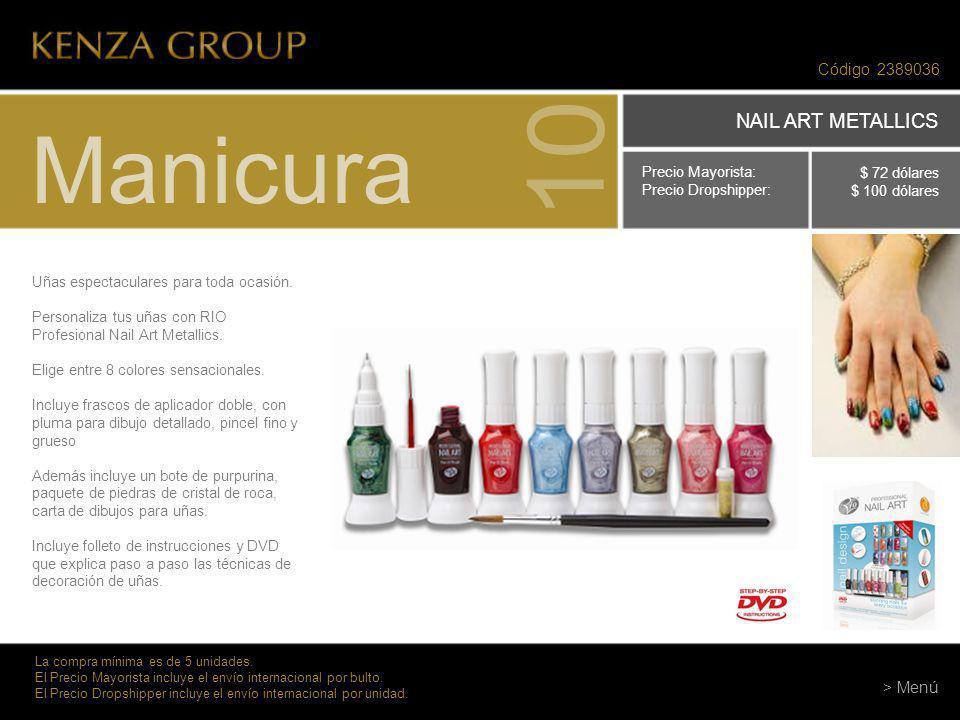 10 Manicura NAIL ART METALLICS Código 2389036 > Menú