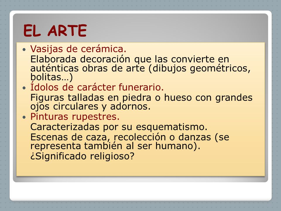 EL ARTE Vasijas de cerámica.