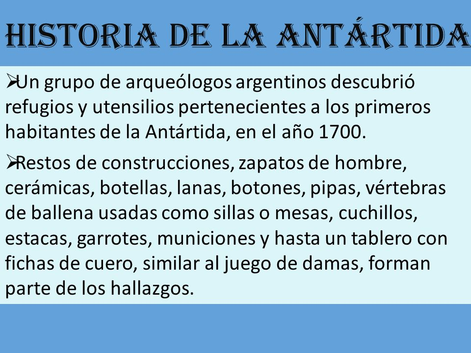 Historia de la Antártida