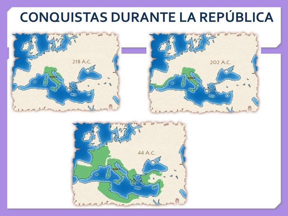 CONQUISTAS DURANTE LA REPÚBLICA