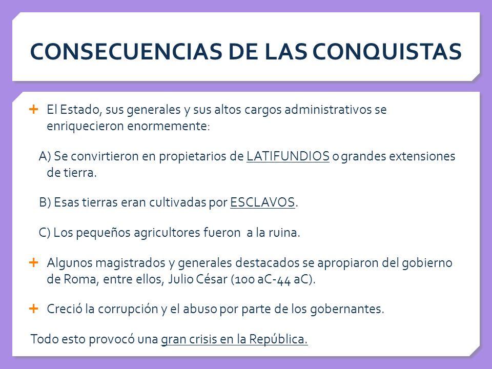 CONSECUENCIAS DE LAS CONQUISTAS