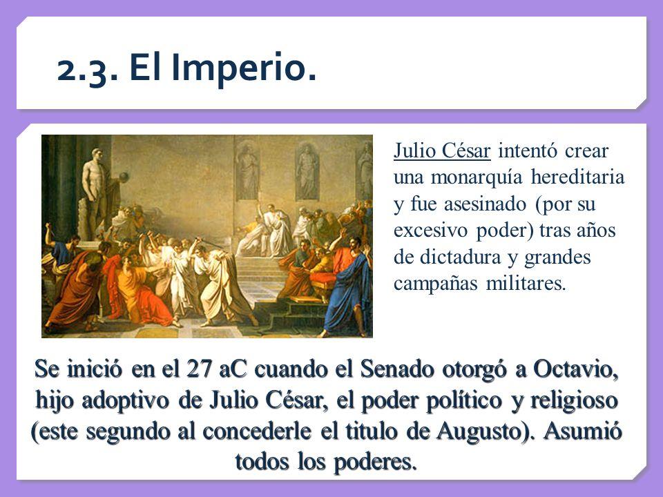 2.3. El Imperio.