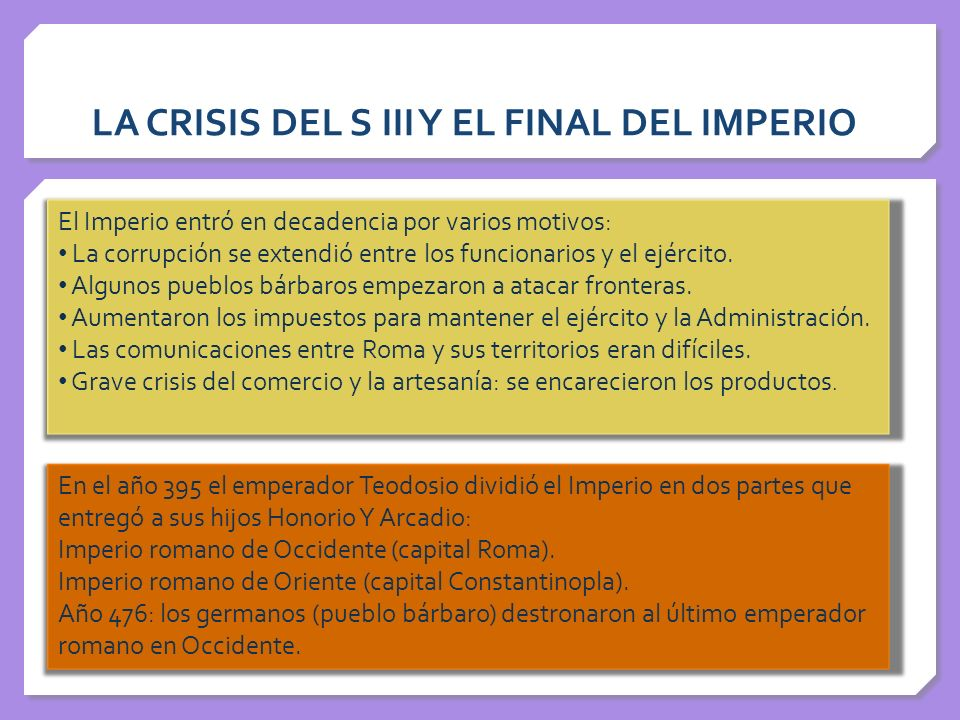 LA CRISIS DEL S III Y EL FINAL DEL IMPERIO