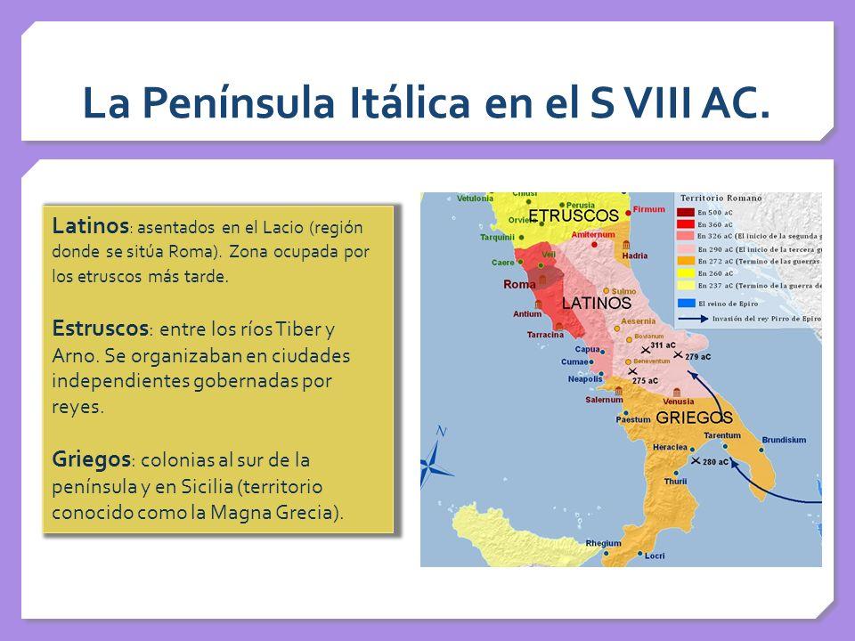 La Península Itálica en el S VIII AC.