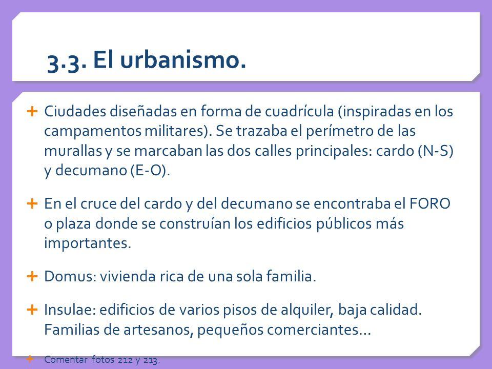 3.3. El urbanismo.
