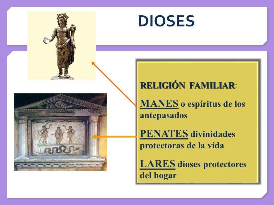 DIOSES MANES o espíritus de los antepasados
