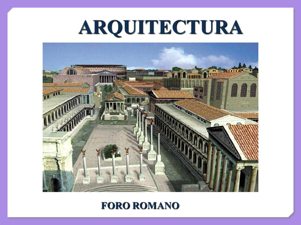 ARQUITECTURA FORO ROMANO