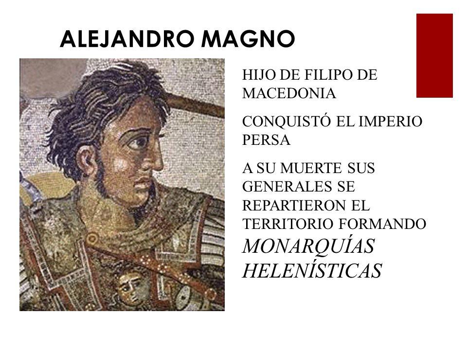 ALEJANDRO MAGNO HIJO DE FILIPO DE MACEDONIA CONQUISTÓ EL IMPERIO PERSA