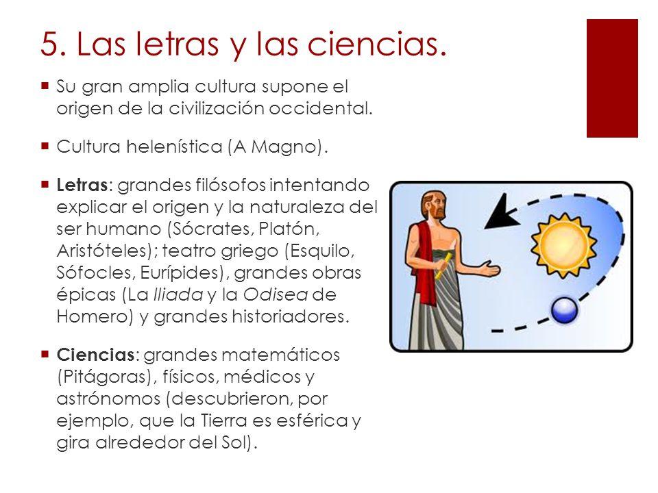 5. Las letras y las ciencias.