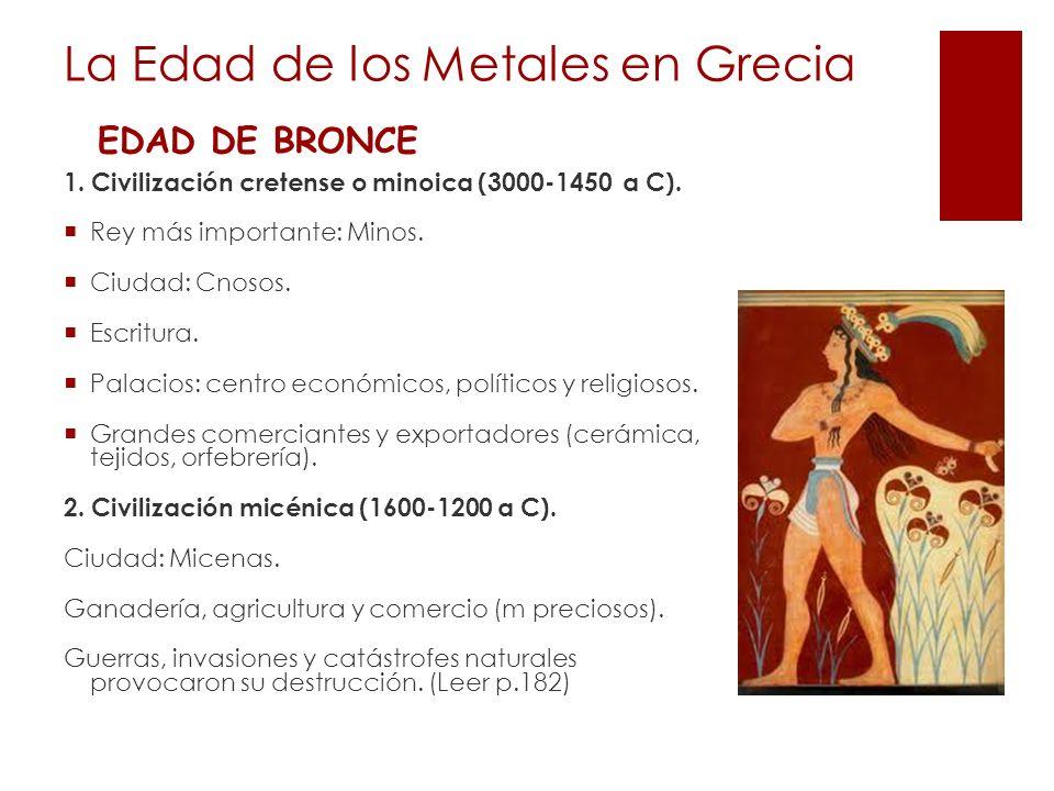La Edad de los Metales en Grecia