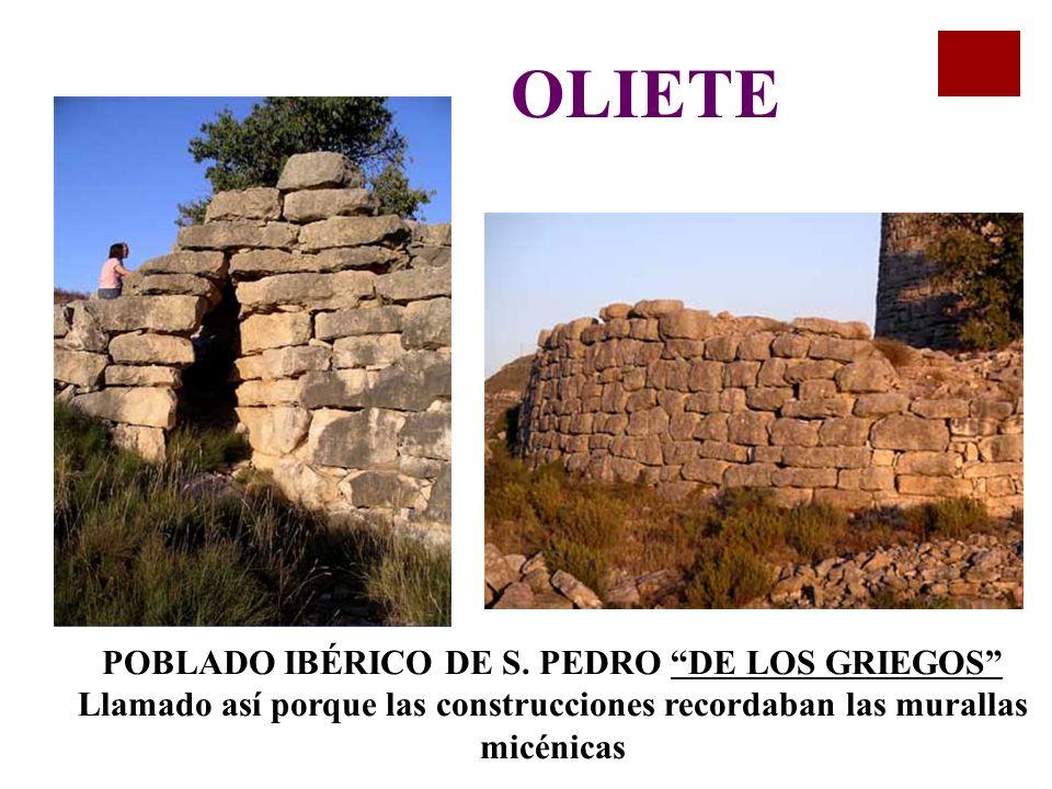 OLIETE POBLADO IBÉRICO DE S.