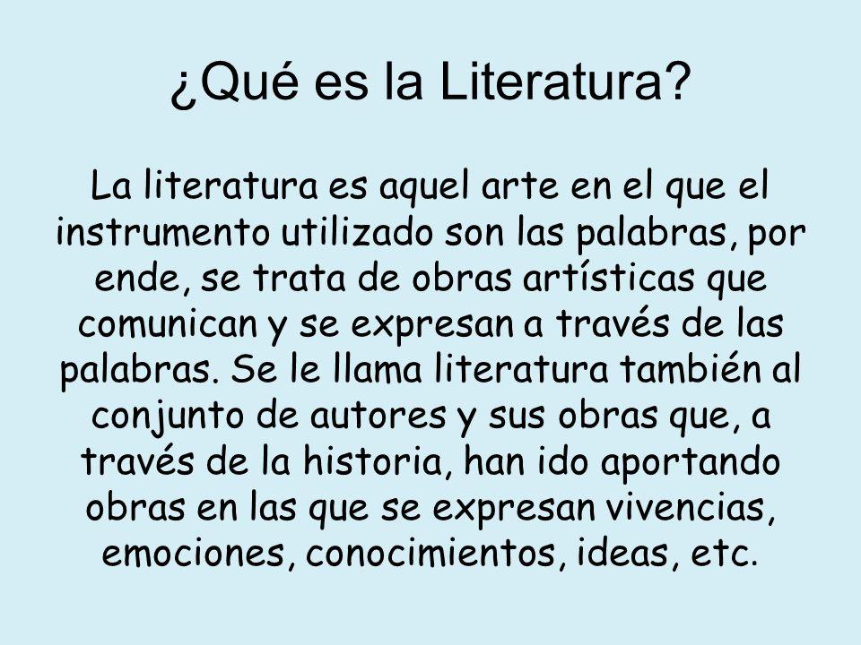 ¿Qué es la Literatura