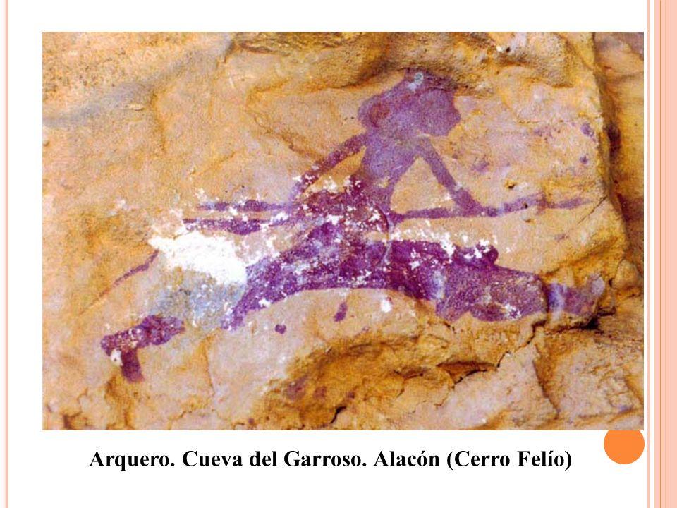 Arquero. Cueva del Garroso. Alacón (Cerro Felío)
