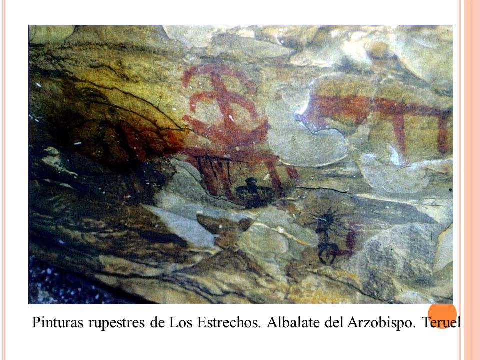 Pinturas rupestres de Los Estrechos. Albalate del Arzobispo. Teruel