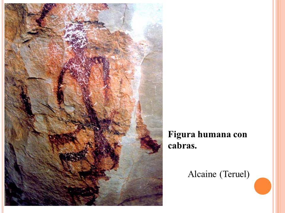 Figura humana con cabras.
