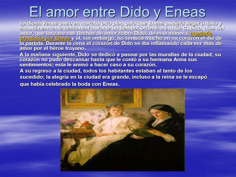 El amor entre Dido y Eneas