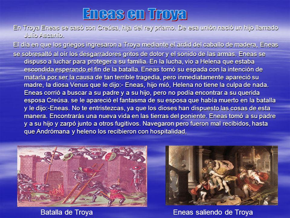 Eneas en Troya Batalla de Troya Eneas saliendo de Troya