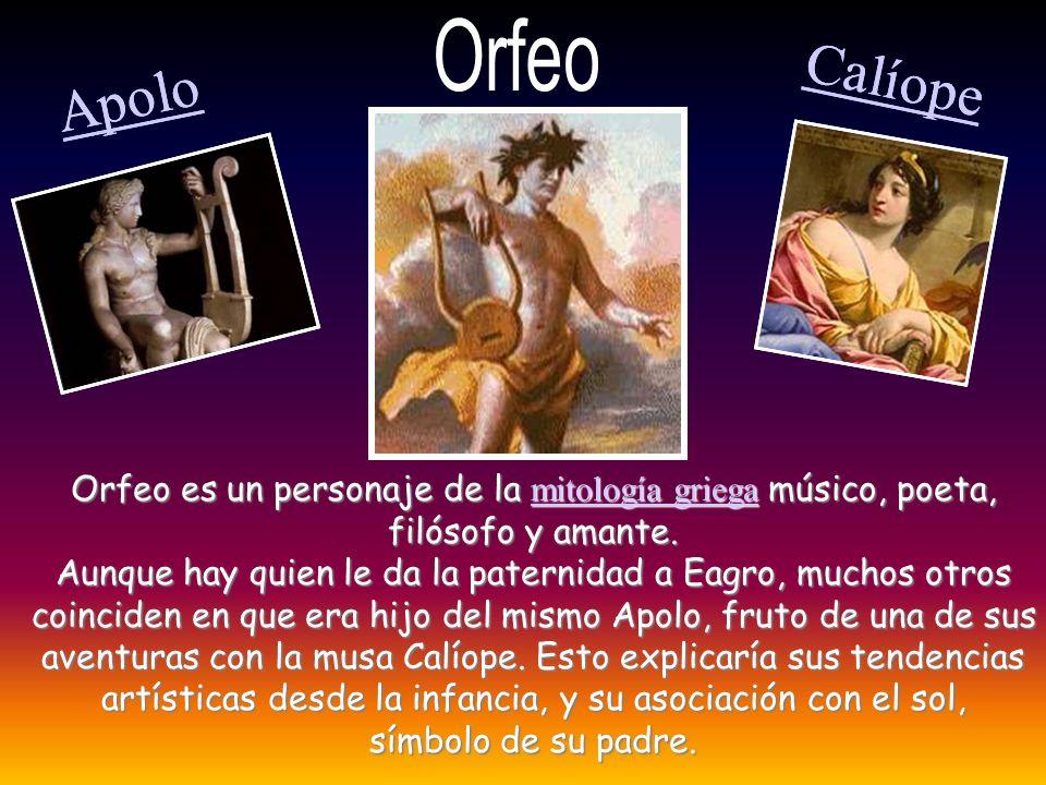 Calíope Calíope Apolo Apolo Orfeo