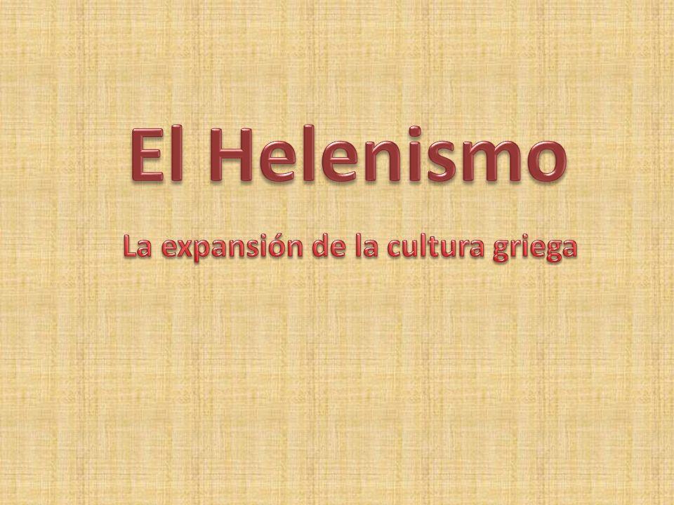 La expansión de la cultura griega
