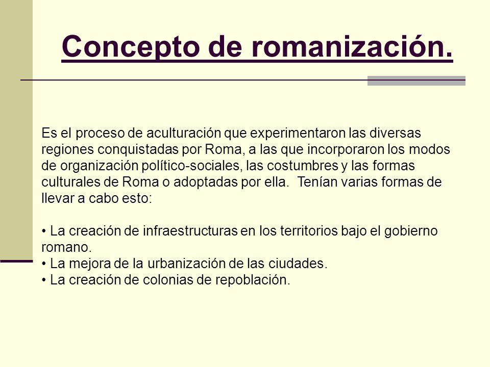 Concepto de romanización.