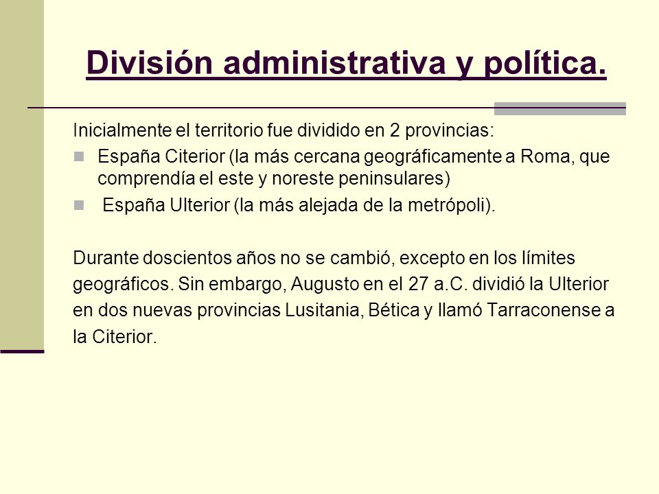 División administrativa y política.