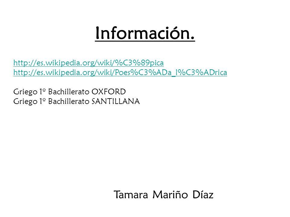 Información. Tamara Mariño Díaz