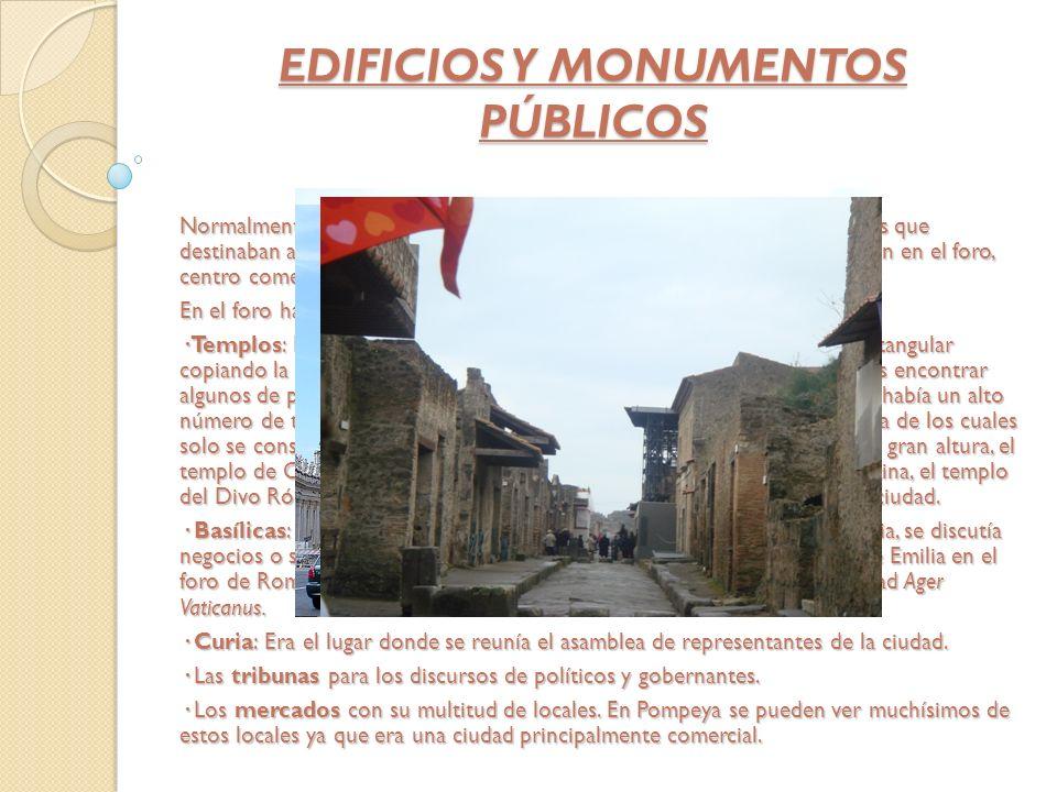 EDIFICIOS Y MONUMENTOS PÚBLICOS