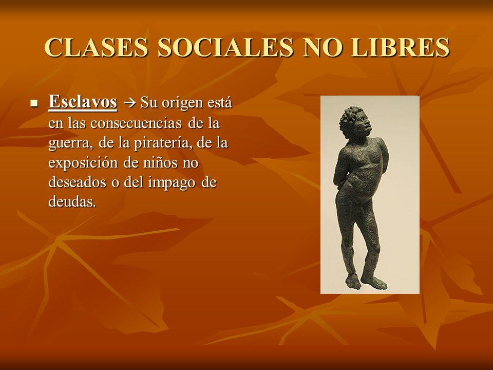 CLASES SOCIALES NO LIBRES