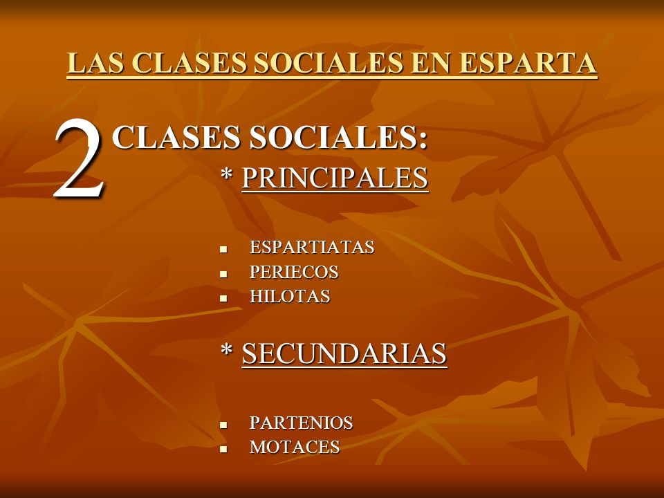 LAS CLASES SOCIALES EN ESPARTA