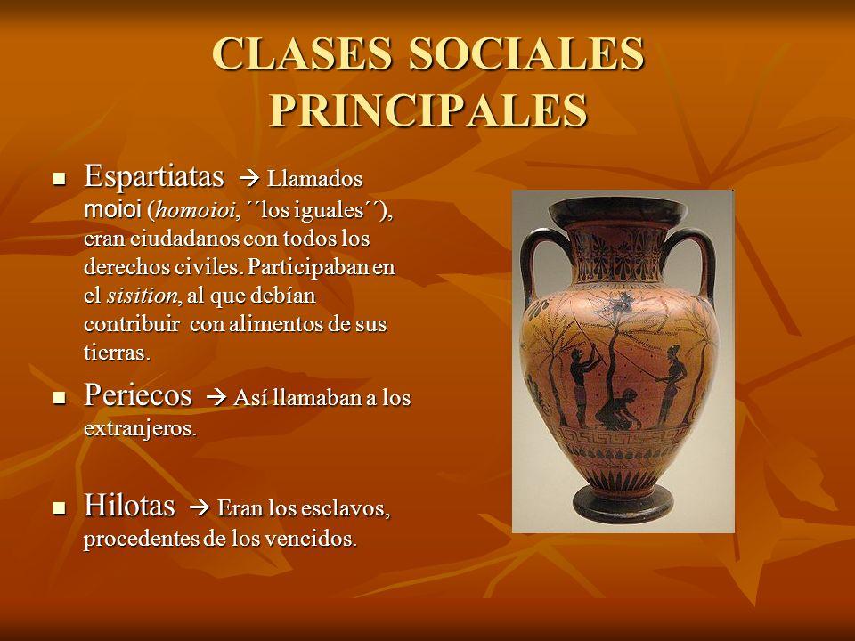 CLASES SOCIALES PRINCIPALES