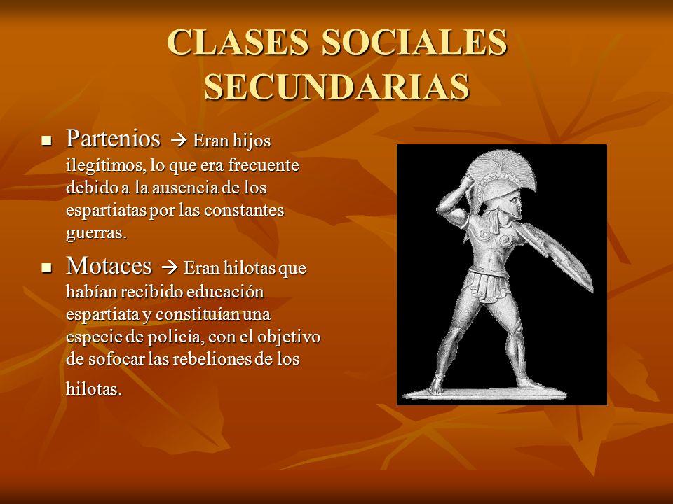 CLASES SOCIALES SECUNDARIAS
