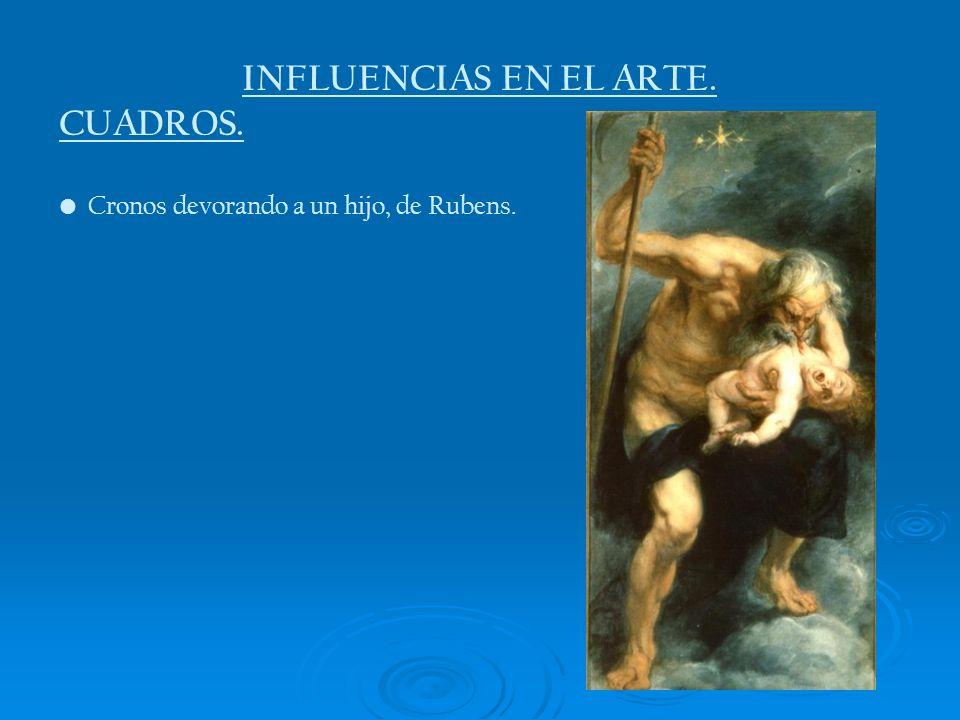 INFLUENCIAS EN EL ARTE. CUADROS.