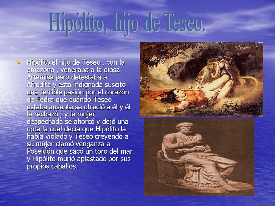Hipólito, hijo de Teseo.