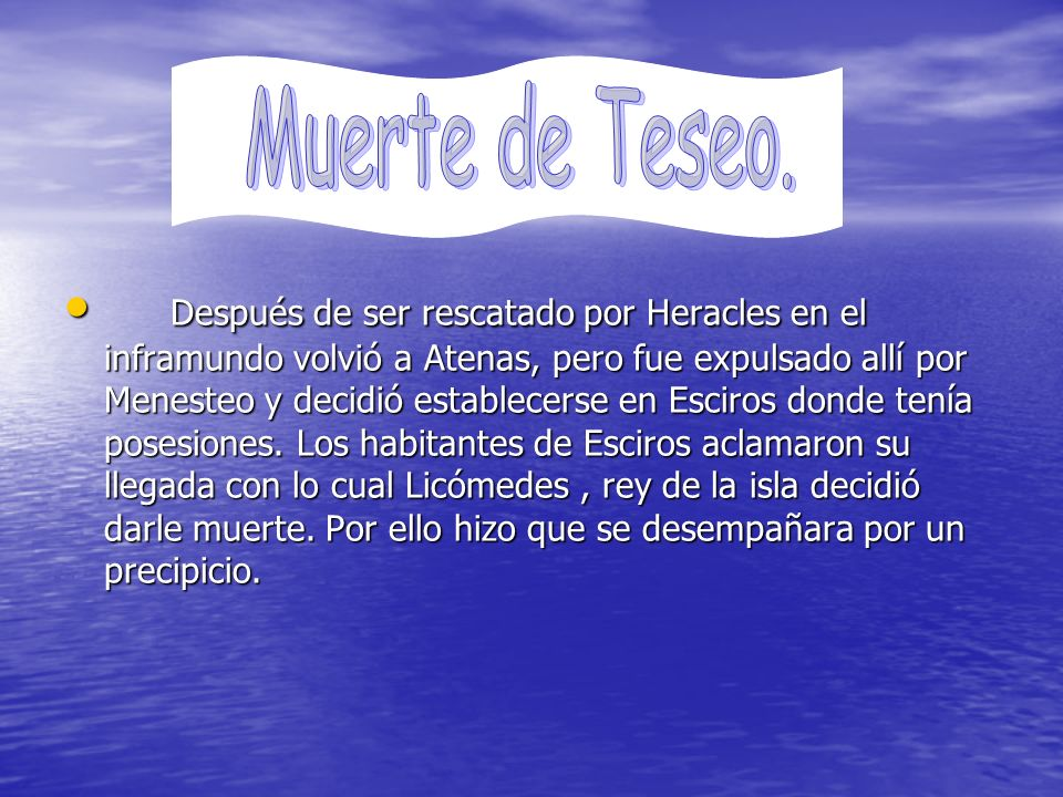 Muerte de Teseo.