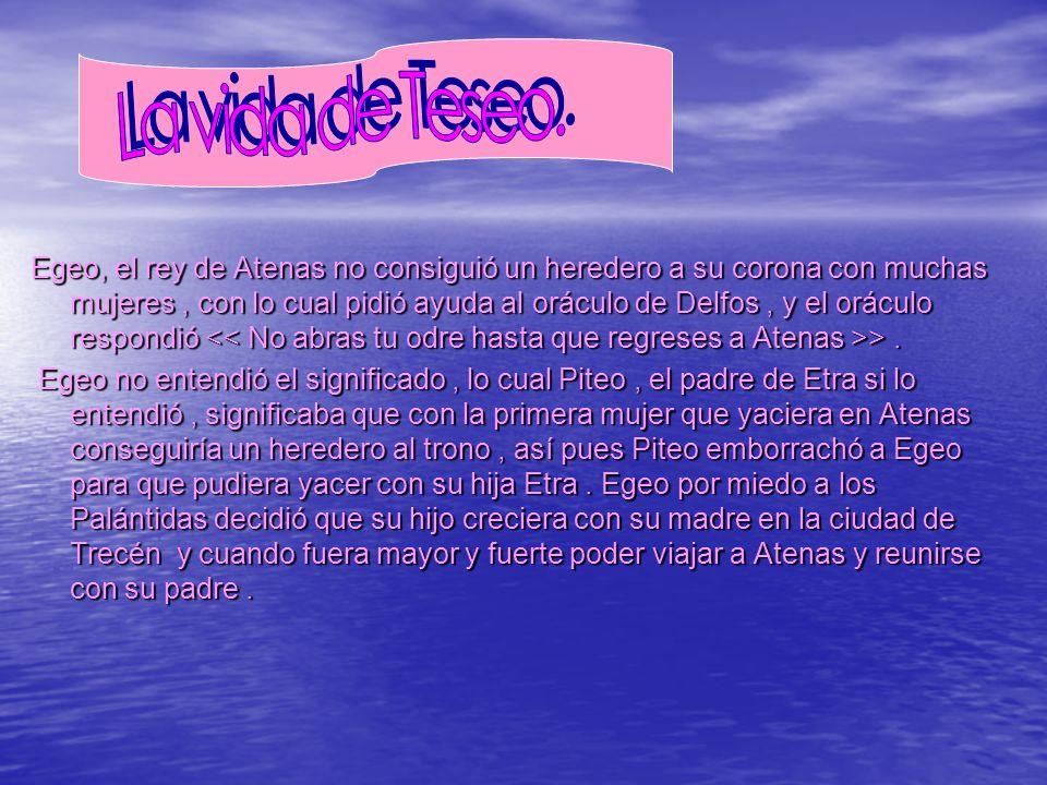 La vida de Teseo.