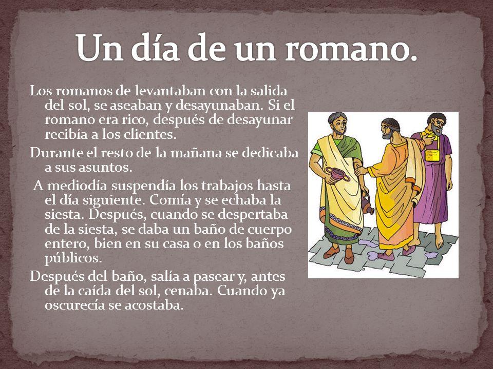Un día de un romano.