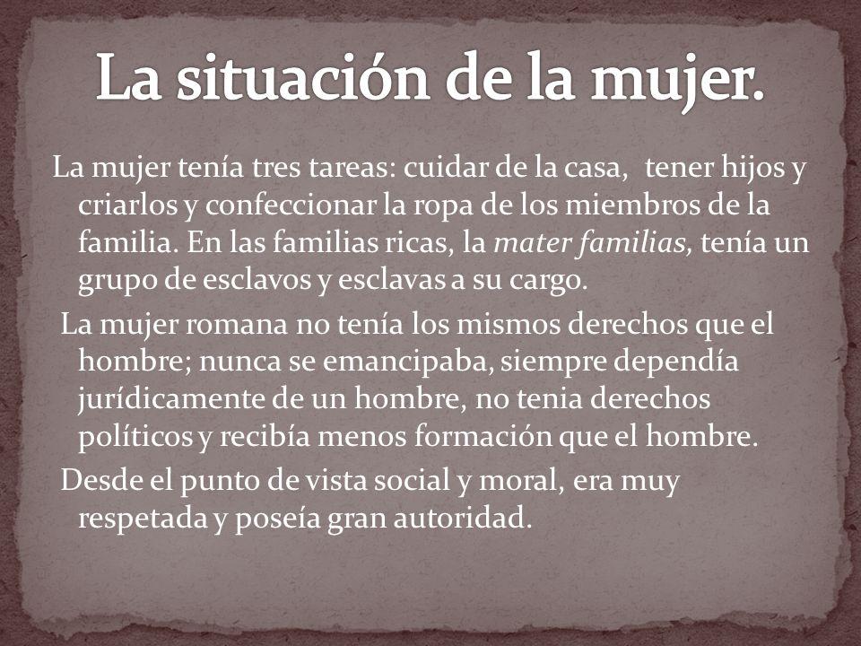 La situación de la mujer.