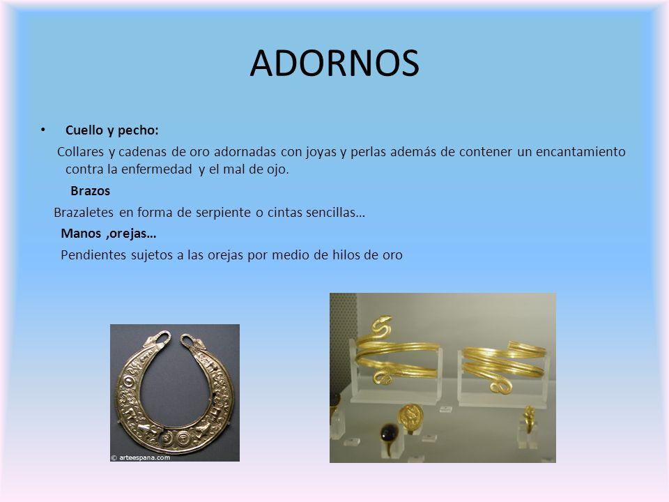 ADORNOS Cuello y pecho:
