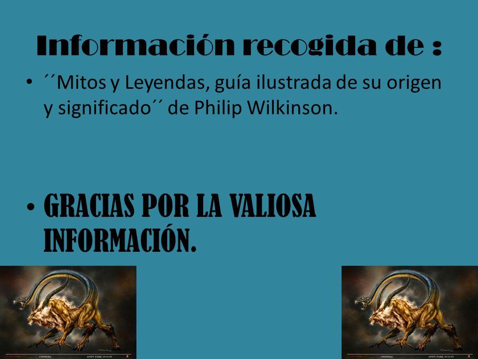 Información recogida de :