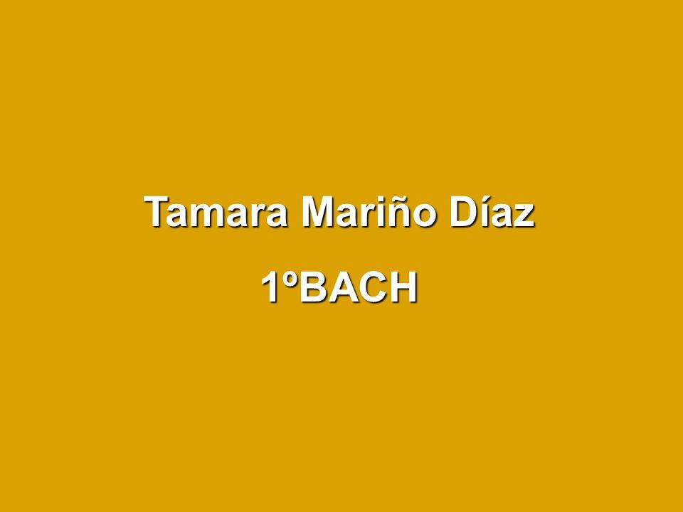 Tamara Mariño Díaz 1ºBACH